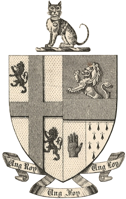 Arms of Sir John Bernard Burke, Ulster King of Arms 1853–92