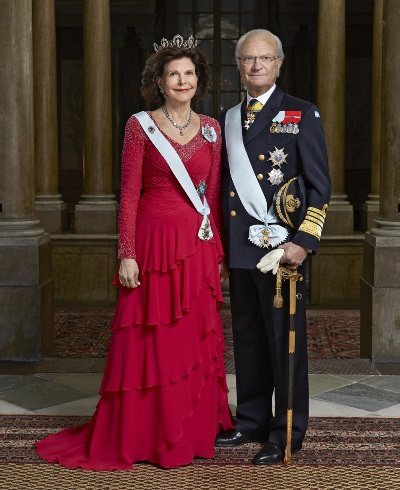 HM Carl XVI Gustaf, King of Sweden and HM Silvia, Queen of Sweden